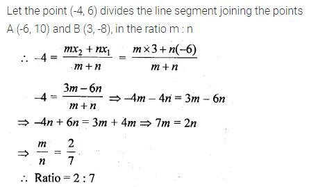 ML Aggarwal Class 10 Solutions for ICSE Maths Chapter 11 Section Formula Chapter Test 12