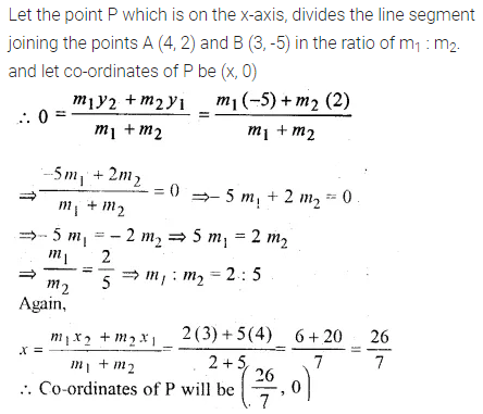 ML Aggarwal Class 10 Solutions for ICSE Maths Chapter 11 Section Formula Chapter Test 15