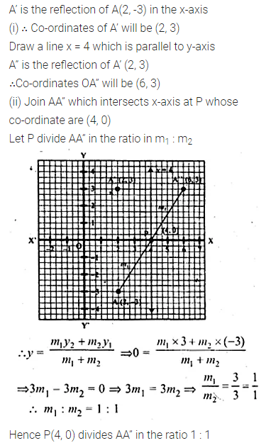 ML Aggarwal Class 10 Solutions for ICSE Maths Chapter 11 Section Formula Chapter Test 18