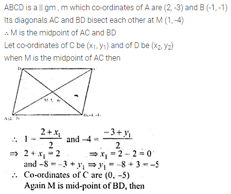 ML Aggarwal Class 10 Solutions for ICSE Maths Chapter 11 Section Formula Chapter Test 20