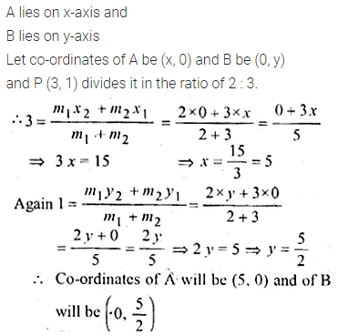 ML Aggarwal Class 10 Solutions for ICSE Maths Chapter 11 Section Formula Chapter Test 23