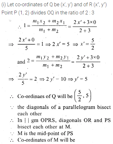 ML Aggarwal Class 10 Solutions for ICSE Maths Chapter 11 Section Formula Chapter Test 25