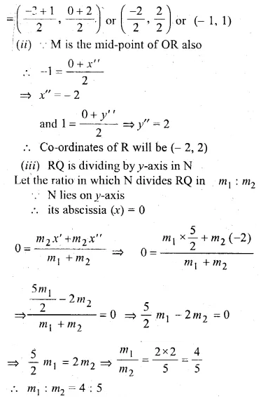 ML Aggarwal Class 10 Solutions for ICSE Maths Chapter 11 Section Formula Chapter Test 26