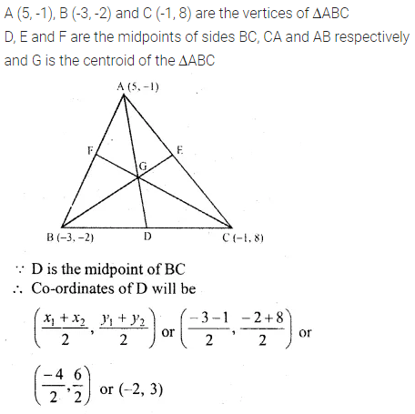 ML Aggarwal Class 10 Solutions for ICSE Maths Chapter 11 Section Formula Chapter Test 27