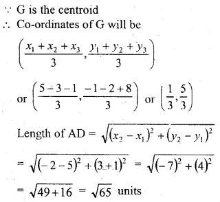 ML Aggarwal Class 10 Solutions for ICSE Maths Chapter 11 Section Formula Chapter Test 28