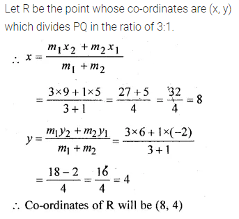 ML Aggarwal Class 10 Solutions for ICSE Maths Chapter 11 Section Formula Chapter Test 5