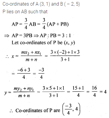 ML Aggarwal Class 10 Solutions for ICSE Maths Chapter 11 Section Formula Chapter Test 6