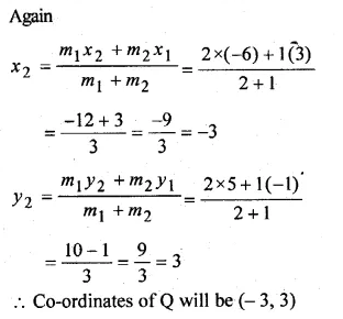 ML Aggarwal Class 10 Solutions for ICSE Maths Chapter 11 Section Formula Chapter Test 8