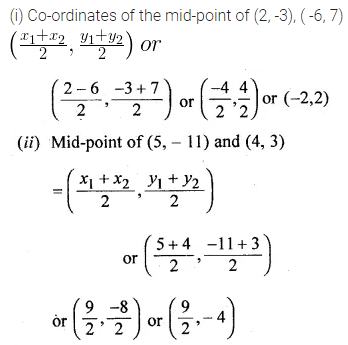ML Aggarwal Class 10 Solutions for ICSE Maths Chapter 11 Section Formula Ex 11 1