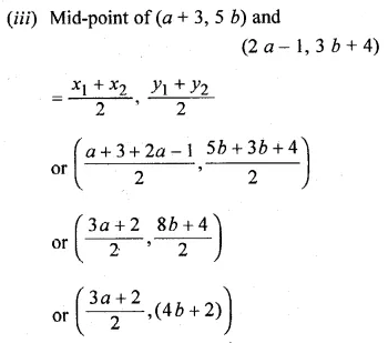 ML Aggarwal Class 10 Solutions for ICSE Maths Chapter 11 Section Formula Ex 11 2