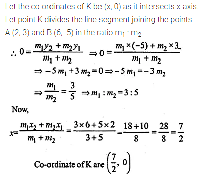 ML Aggarwal Class 10 Solutions for ICSE Maths Chapter 11 Section Formula Ex 11 21