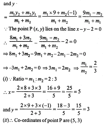 ML Aggarwal Class 10 Solutions for ICSE Maths Chapter 11 Section Formula Ex 11 25