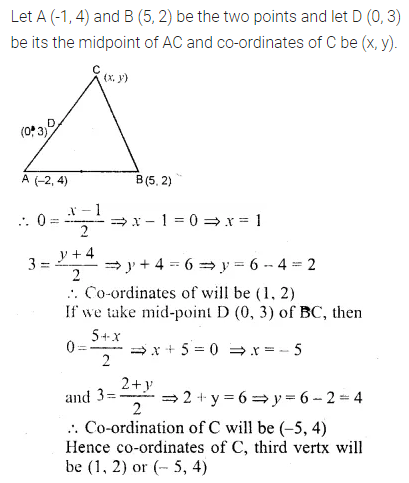 ML Aggarwal Class 10 Solutions for ICSE Maths Chapter 11 Section Formula Ex 11 33