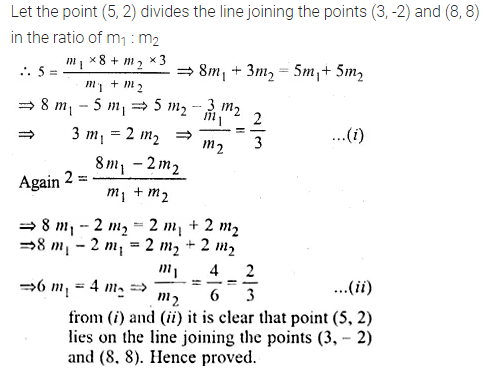 ML Aggarwal Class 10 Solutions for ICSE Maths Chapter 11 Section Formula Ex 11 36