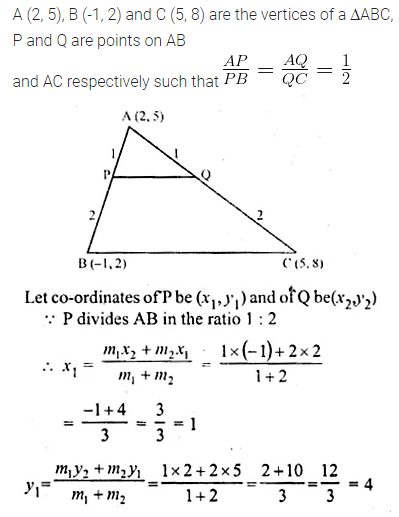 ML Aggarwal Class 10 Solutions for ICSE Maths Chapter 11 Section Formula Ex 11 39