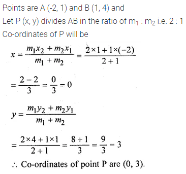 ML Aggarwal Class 10 Solutions for ICSE Maths Chapter 11 Section Formula Ex 11 4