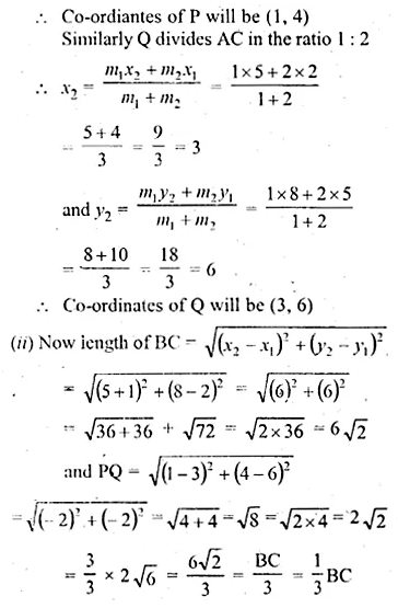 ML Aggarwal Class 10 Solutions for ICSE Maths Chapter 11 Section Formula Ex 11 40
