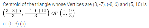 ML Aggarwal Class 10 Solutions for ICSE Maths Chapter 11 Section Formula MCQS 13