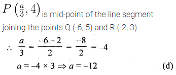 ML Aggarwal Class 10 Solutions for ICSE Maths Chapter 11 Section Formula MCQS 3