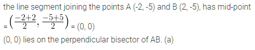 ML Aggarwal Class 10 Solutions for ICSE Maths Chapter 11 Section Formula MCQS 7