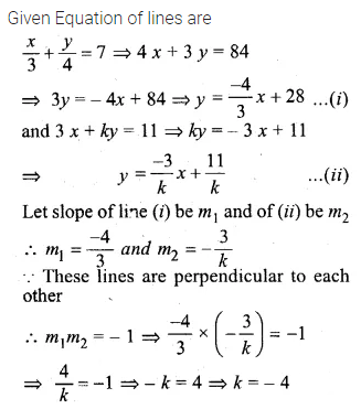 ML Aggarwal Class 10 Solutions for ICSE Maths Chapter 12 Equation of a Straight Line Chapter Test 10
