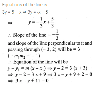 ML Aggarwal Class 10 Solutions for ICSE Maths Chapter 12 Equation of a Straight Line Chapter Test 12