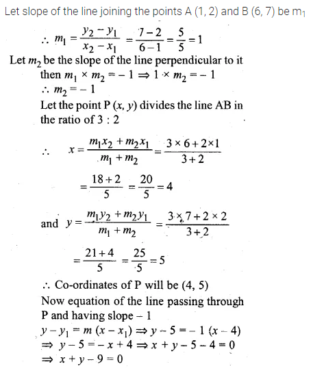 ML Aggarwal Class 10 Solutions for ICSE Maths Chapter 12 Equation of a Straight Line Chapter Test 13