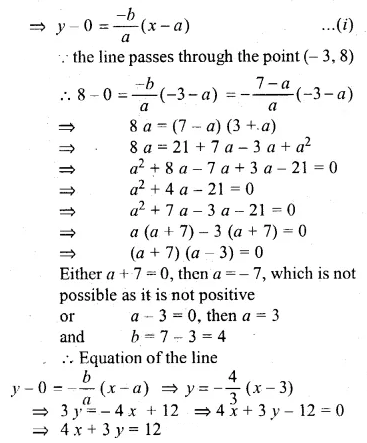 ML Aggarwal Class 10 Solutions for ICSE Maths Chapter 12 Equation of a Straight Line Chapter Test 19