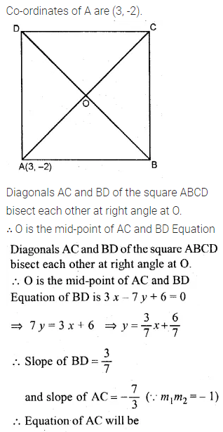 ML Aggarwal Class 10 Solutions for ICSE Maths Chapter 12 Equation of a Straight Line Chapter Test 20
