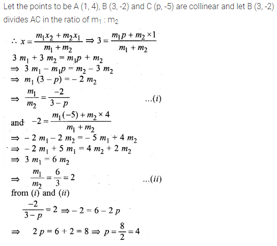 ML Aggarwal Class 10 Solutions for ICSE Maths Chapter 12 Equation of a Straight Line Chapter Test 5
