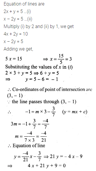 ML Aggarwal Class 10 Solutions for ICSE Maths Chapter 12 Equation of a Straight Line Chapter Test 7