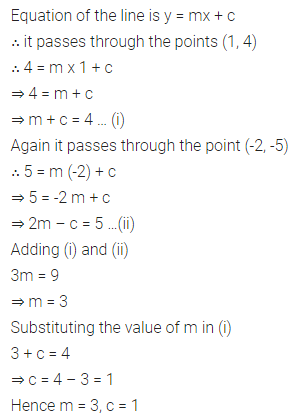 ML Aggarwal Class 10 Solutions for ICSE Maths Chapter 12 Equation of a Straight Line Ex 12.1 14