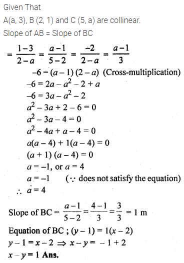 ML Aggarwal Class 10 Solutions for ICSE Maths Chapter 12 Equation of a Straight Line Ex 12.1 22