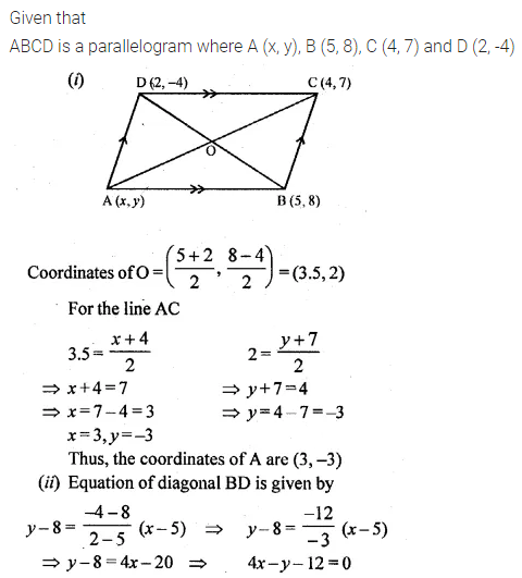 ML Aggarwal Class 10 Solutions for ICSE Maths Chapter 12 Equation of a Straight Line Ex 12.1 24