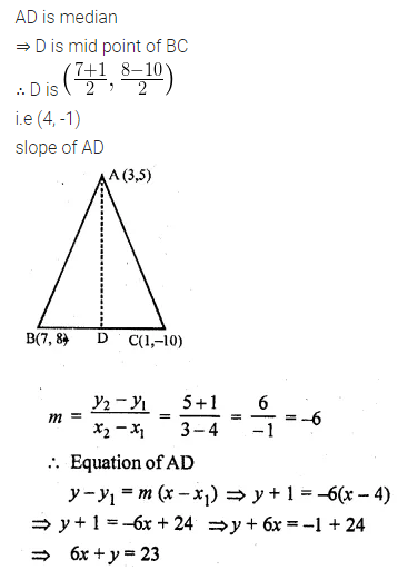 ML Aggarwal Class 10 Solutions for ICSE Maths Chapter 12 Equation of a Straight Line Ex 12.1 25