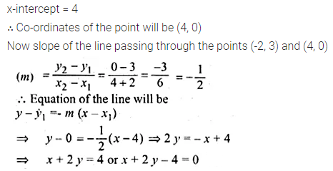 ML Aggarwal Class 10 Solutions for ICSE Maths Chapter 12 Equation of a Straight Line Ex 12.1 26