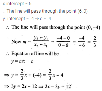 ML Aggarwal Class 10 Solutions for ICSE Maths Chapter 12 Equation of a Straight Line Ex 12.1 27