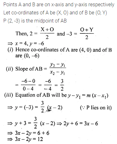 ML Aggarwal Class 10 Solutions for ICSE Maths Chapter 12 Equation of a Straight Line Ex 12.1 34