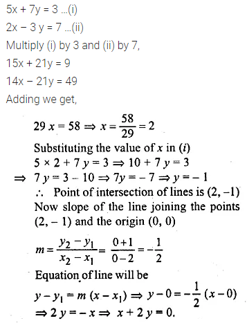 ML Aggarwal Class 10 Solutions for ICSE Maths Chapter 12 Equation of a Straight Line Ex 12.1 37