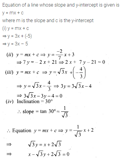 ML Aggarwal Class 10 Solutions for ICSE Maths Chapter 12 Equation of a Straight Line Ex 12.1 6