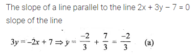ML Aggarwal Class 10 Solutions for ICSE Maths Chapter 12 Equation of a Straight Line MCQS 10
