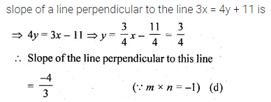 ML Aggarwal Class 10 Solutions for ICSE Maths Chapter 12 Equation of a Straight Line MCQS 11