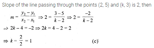 ML Aggarwal Class 10 Solutions for ICSE Maths Chapter 12 Equation of a Straight Line MCQS 7