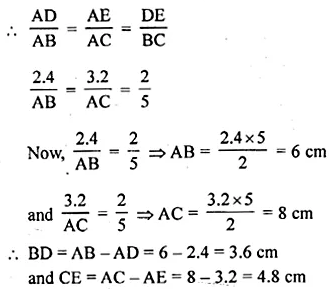 ML Aggarwal Class 10 Solutions for ICSE Maths Chapter 13 Similarity Chapter Test 12