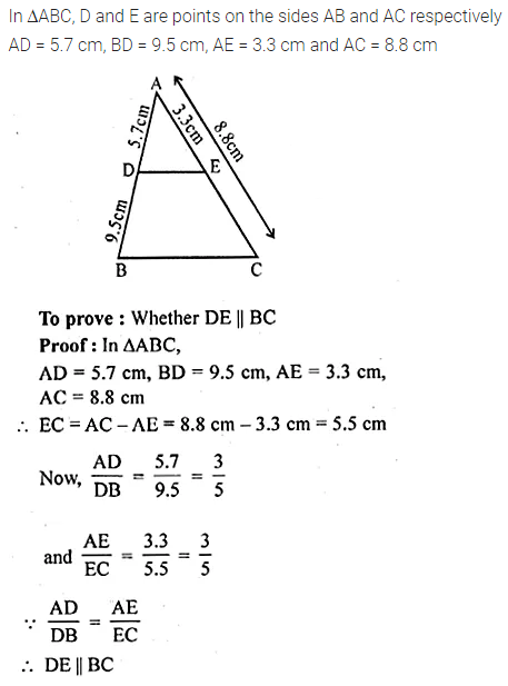 ML Aggarwal Class 10 Solutions for ICSE Maths Chapter 13 Similarity Chapter Test 13