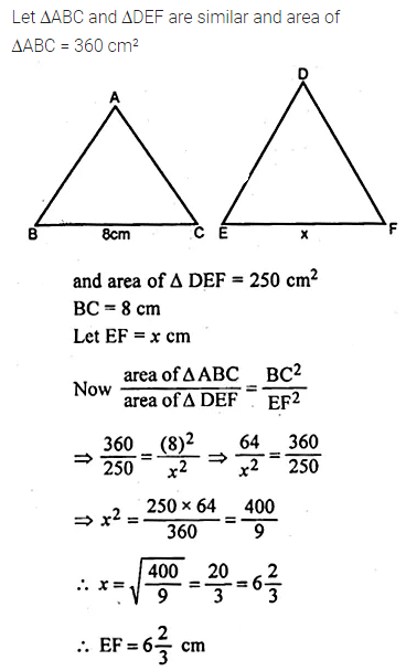 ML Aggarwal Class 10 Solutions for ICSE Maths Chapter 13 Similarity Chapter Test 15