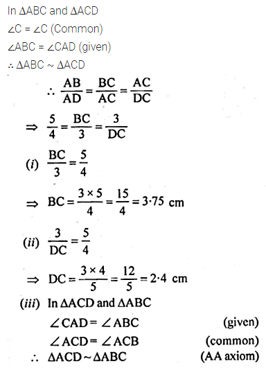 ML Aggarwal Class 10 Solutions for ICSE Maths Chapter 13 Similarity Chapter Test 17