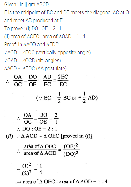 ML Aggarwal Class 10 Solutions for ICSE Maths Chapter 13 Similarity Chapter Test 25