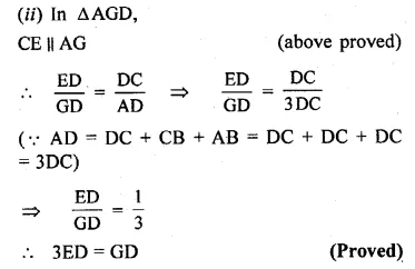 ML Aggarwal Class 10 Solutions for ICSE Maths Chapter 13 Similarity Chapter Test 7