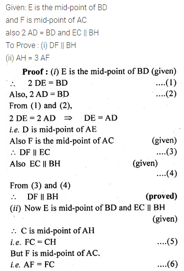 ML Aggarwal Class 10 Solutions for ICSE Maths Chapter 13 Similarity Chapter Test 9